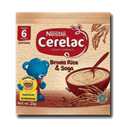 Cerelac Infant Cereals Brown Rice And Soya 20g