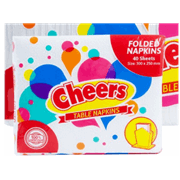 Cheers Folded Table Napkin 40s