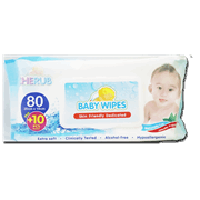 Cherub Baby Wipes 80s Plus 10s