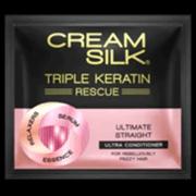 Cream Silk Triple Keratin Rescue Ultimate Straight 10ml 12s