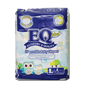 EQ Plus Disposable Diapers Large 4s