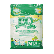 EQ Plus Disposable Diapers Medium 4s