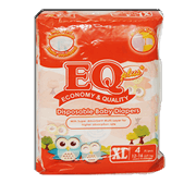 EQ Plus Disposable Diapers XL Extra Large 4s