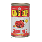 King Cup Easy Open Sardines With Chili 155g