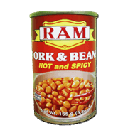 Ram Pork And Beans 165g