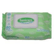 Sanicare Cleansing Wipes 80 Sheets