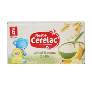 Cerelac Infant Cereals Wheat Banana And Milk 120g