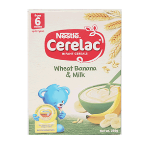 Cerelac Infant Cereals Wheat Banana And Milk 250g