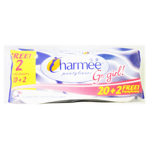 Charmee Pantyliners Unscented 20s Plus 2