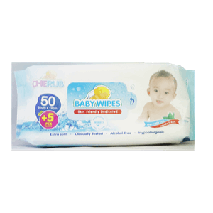 Cherub Baby Wipes 50s Plus 5s