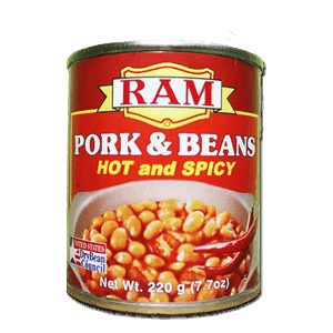 Ram Pork And Beans Hot And Spicy 220g